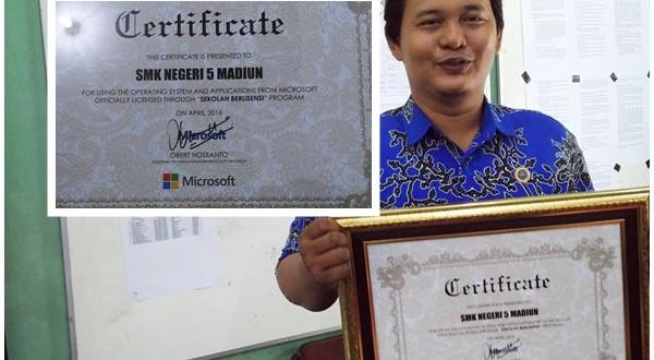 """SMKN 5 Madiun """"Sekolah Berlisensi Microsoft"""""""