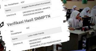 Siapa bilang lulusan SMK tidak bisa kuliah dan lolos SNMPTN ?